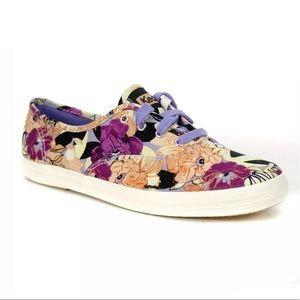 New Keds floral champion sneaker Sz 8